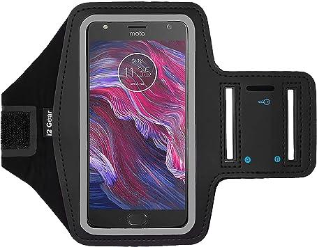 i2 Gear Brazalete Deportivo para Motorola Droid Turbo 2, Moto G6, Moto X4, Moto E6 y Droid Maxx con Llavero, Negro: Amazon.es: Electrónica