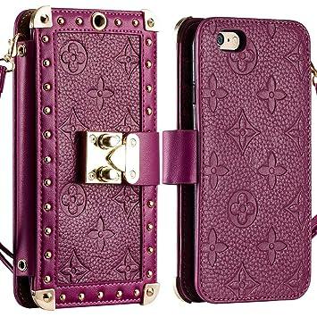aa322a0880 Amazon   【Kanzo】iphone6s plus ケース 手帳型 ブランド カード収納 ...