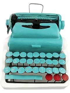 Creative Vintage resina verde de metal antiguo modelo de máquina de escribir pantalla decoración hogar Bar Retro adorno…