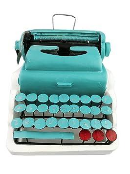 Creative Vintage resina verde de metal antiguo modelo de máquina de escribir pantalla decoración hogar Bar Retro adorno Navidad Festival regalos de ...