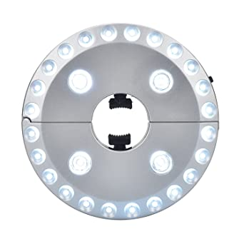 Patio Umbrella Light, ELanderu0026trade; 3 Level Dimming 28 LEDs Outdoor Patio  Umbrella Pole Lights