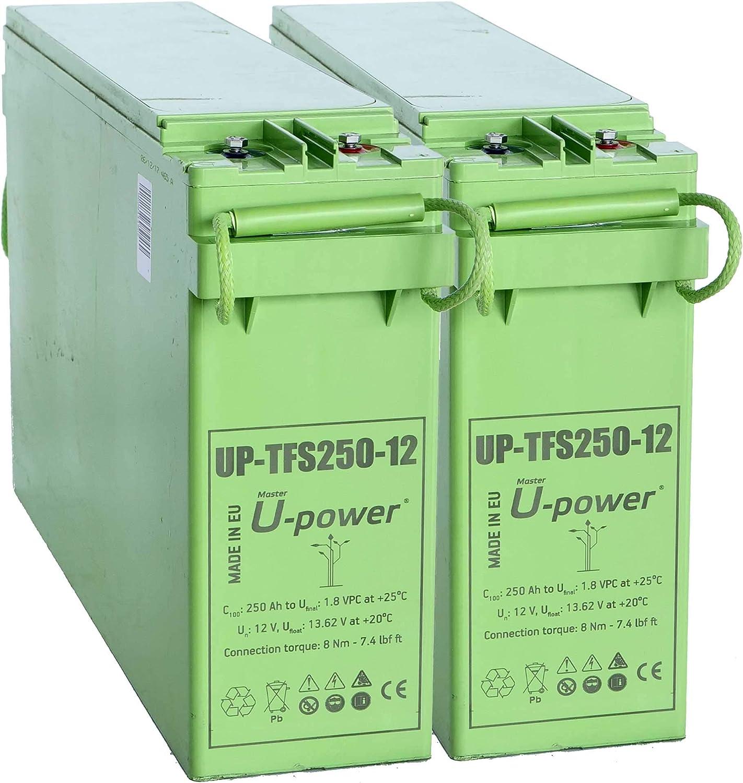 Master U-Power FTS Batería Solar, AGM TFS 250AH 24V, Verde