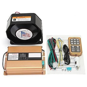 Mic System - Alarma de aviso de policía (400 W, 8 tonos ...
