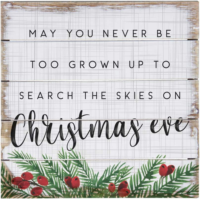 Simply Said, INC Perfect Pallets Petites - Search The Skies on Christmas Ever, 8x8 in Wood Sign PET19638