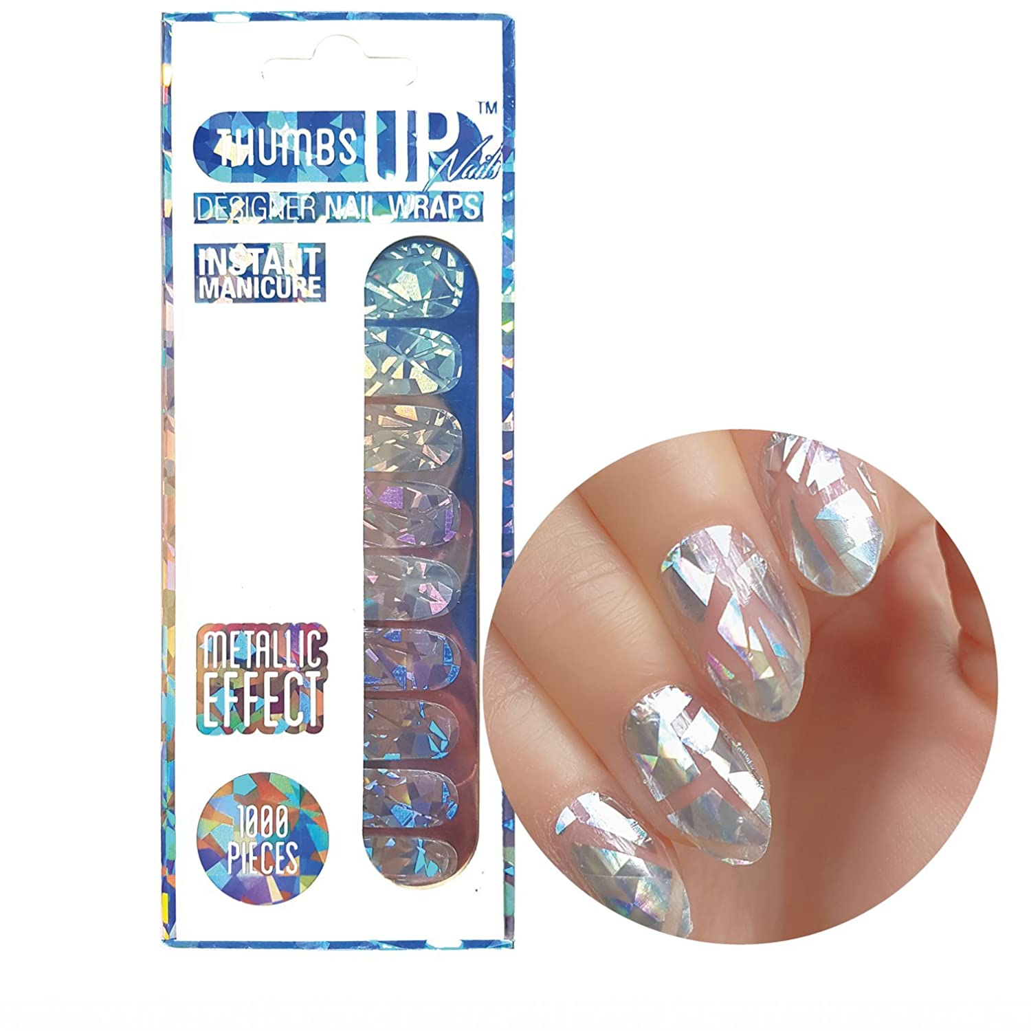 1000 Teile Shattered Glass Nail Wraps 20 Packungen/Pack von ThumbsUp Nägel ThumbsUp Nails