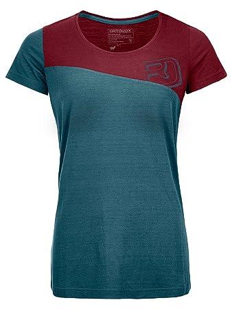 4cfd1abf8 Ortovox Women's 150 Cool Logo T-Shirt, Mid Aqua, XS: Amazon.co.uk ...