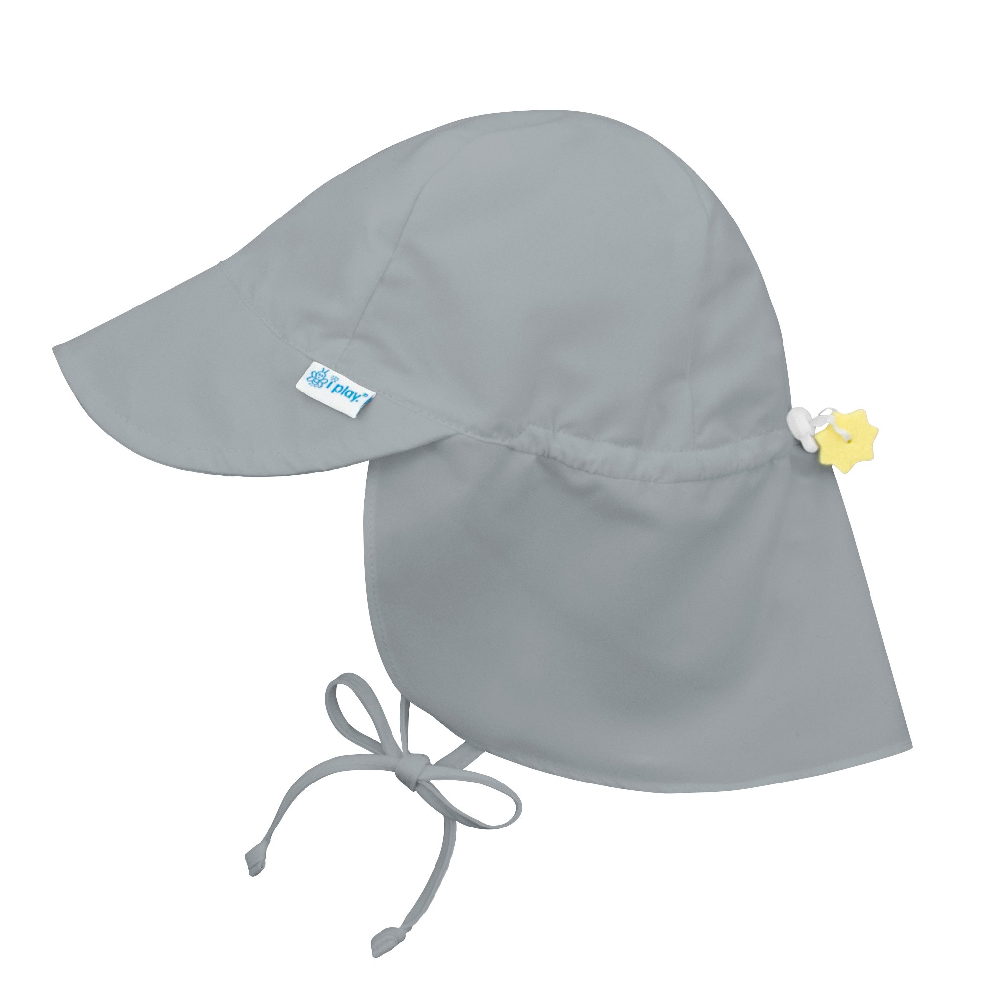 i play.. Baby Flap Sun Protection Swim Hat, Gray, 0-6 Months