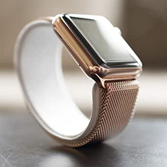 COTEetCI Stainless Steel Metal Buckle Watchband for Apple Watch 42mm ROSE GOLD