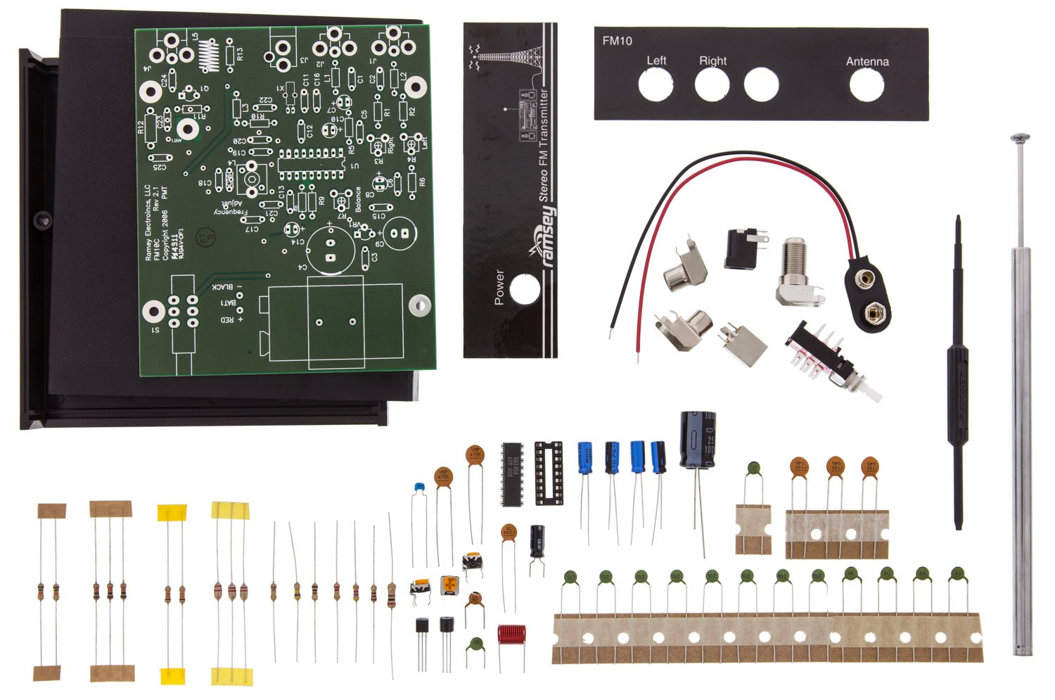 Ramsey Fm10c Fm Stereo Transmitter Kit Soldering Asse Audio Circuit Diagram Mbly Required Mp3 Players Accessories