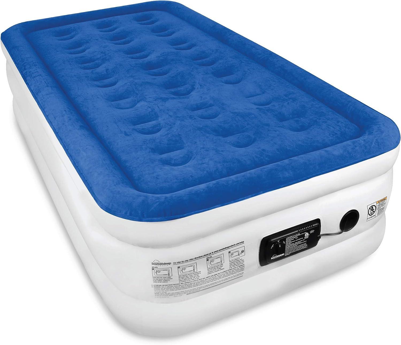 SoundAsleep Dream Series Air Mattress with ComfortCoil Technology & Internal High Capacity Pump - Twin Size