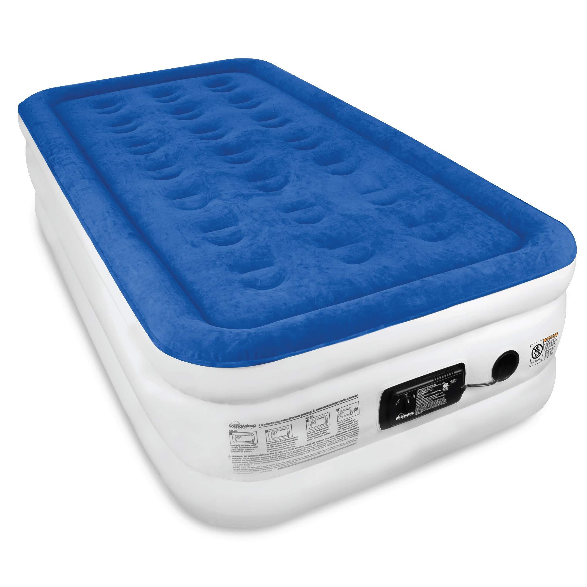 SoundAsleep Dream Series Air Mattress with ComfortCoil Technology & Internal High Capacity Pump – Twin Size