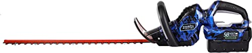 Zombi Power Tools ZHT5817 Hedge Trimmer, 24-Inch, 58-Volt Cordless, Black Blue