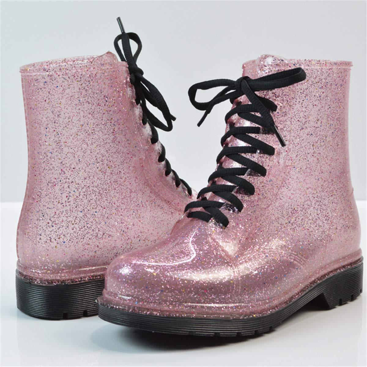Womens Tube Fashion Shoes Non-Slip Boots Martin Boots rain Boots