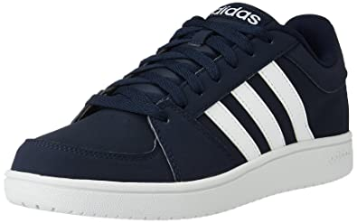 Neo Men's Vs Uk Conavy Adidas Ftwwht And Leather Hoops 9 Sneakers 3ALR5c4jqS