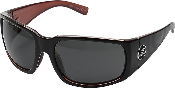 8d0292a80be7 Amazon.com: VonZipper Mens Palooka Sunglasses, Lux Black-Red w/Gray ...