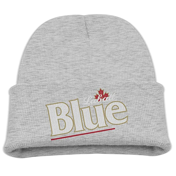 AsenraKid s Skull Cap Canada Labatt Blue Beer Knit Beanie Ash ... 0b34366edfd0