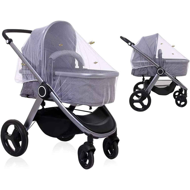 Leadstar Universal Insektenschutz Mückennetz Moskitonetz Fliegennetz Mit Gummizug Für Kinderwagen Buggy Baby Bett Reisebett Weiß Baby