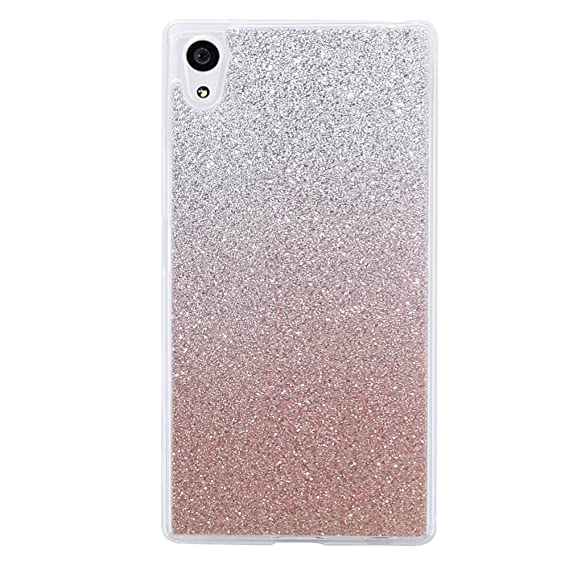 huge discount 2c321 46767 Sony Xperia XA Case, TIPFLY Glitter Protective Case Ultra Light Slim  Shinning Bling Skin Cover Bumper Sparkle Flexible Silicone Soft Case for  Sony ...