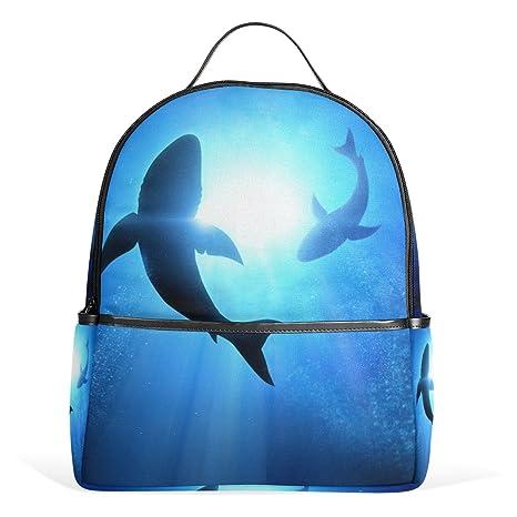 COOSUN Natación Escuela Dophins mochilas mochilas para las muchachas de los niños Multi