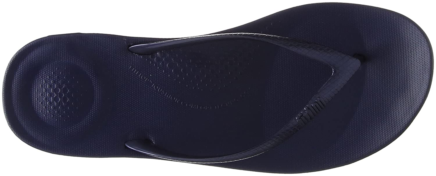FitFlop Damen Iqushion Ergonomic Flip-Flops Peeptoe Sandalen, Gold  40 EU|Blue (Midnight Navy)