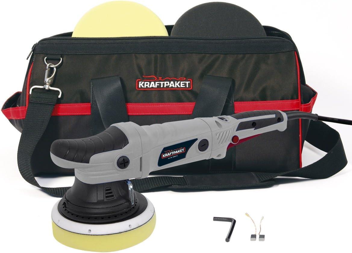 Dino Kraftpaket 21mm 720w Exzenter Poliermaschine Stufenlos Im Set Mit Polierschwamm Polierteller Tasche Für Auto Kfz Boot Xxl Hub Auto