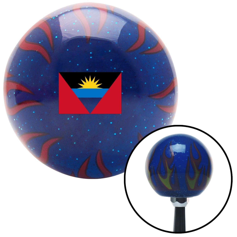 Antigua /& Barbuda Blue Flame Metal Flake with M16 x 1.5 Insert American Shifter 310382 Shift Knob