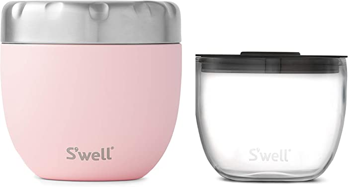 S'well 2-IN-1 Nesting Food Bowls, 21.5oz, Pink Topaz