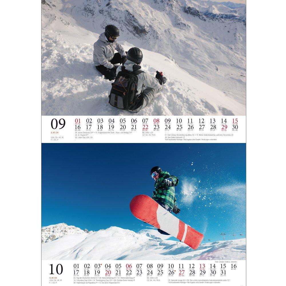 Snowboard mágica · DIN A5 · Premium mesa/Calendario 2019 · Deporte ...