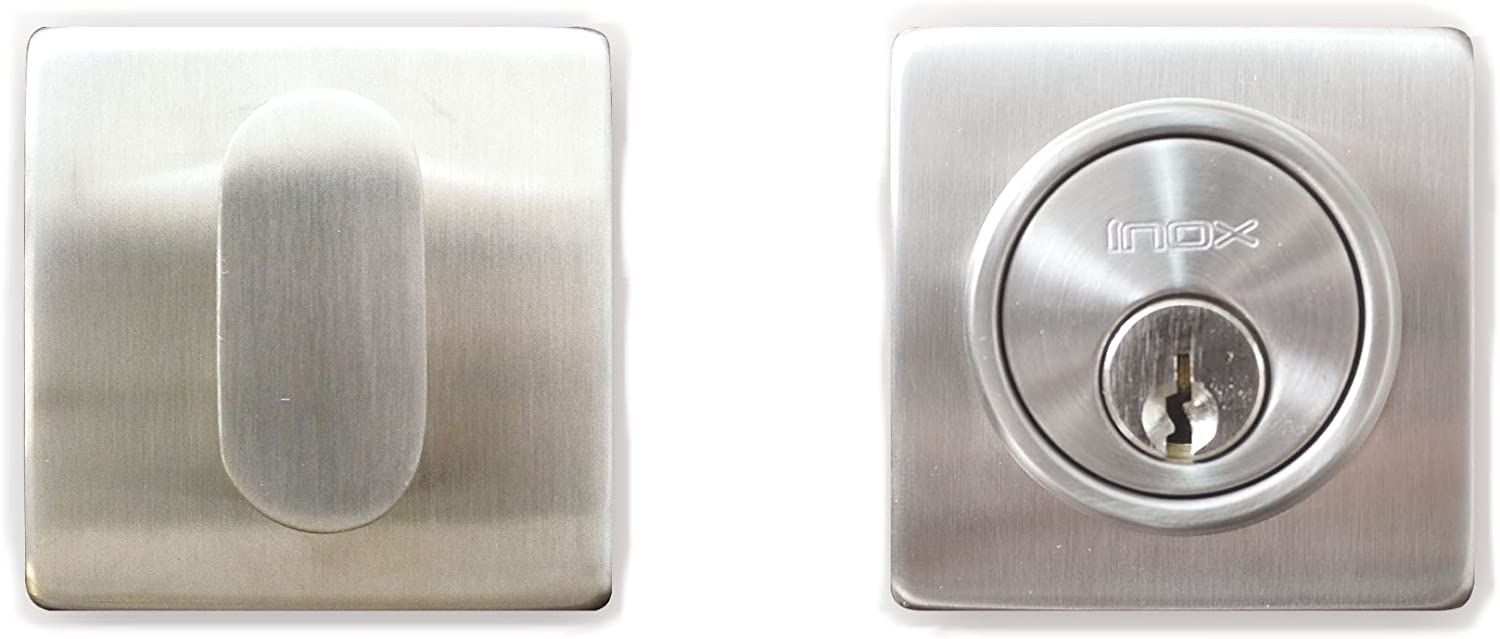 INOX LD310B6-32 Single Cylinder Deadbolt Polished Stainless Steel