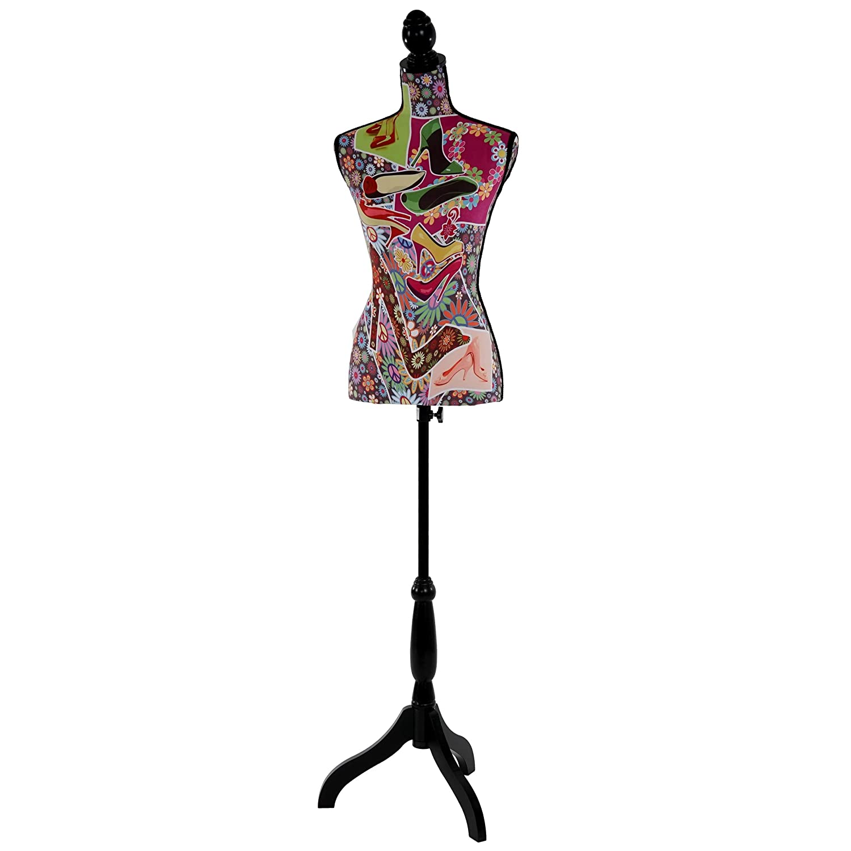 Manichino sartoriale busto donna T222 fibre di vetro con treppiede ~ high heels