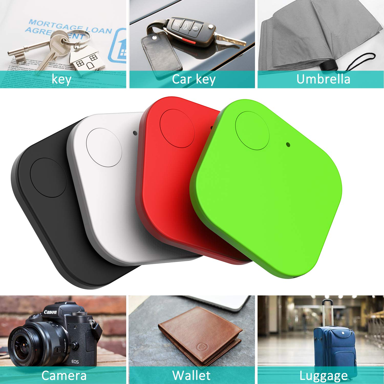 Kimfly Schlüsselfinder Anti-Lost Tracker, Bluetooth Tracker GPS Locator Wallet Telefonschlüssel Alarm Reminder fürTelefon Haustiere Schlüsselbund Brieftasche Gepäck
