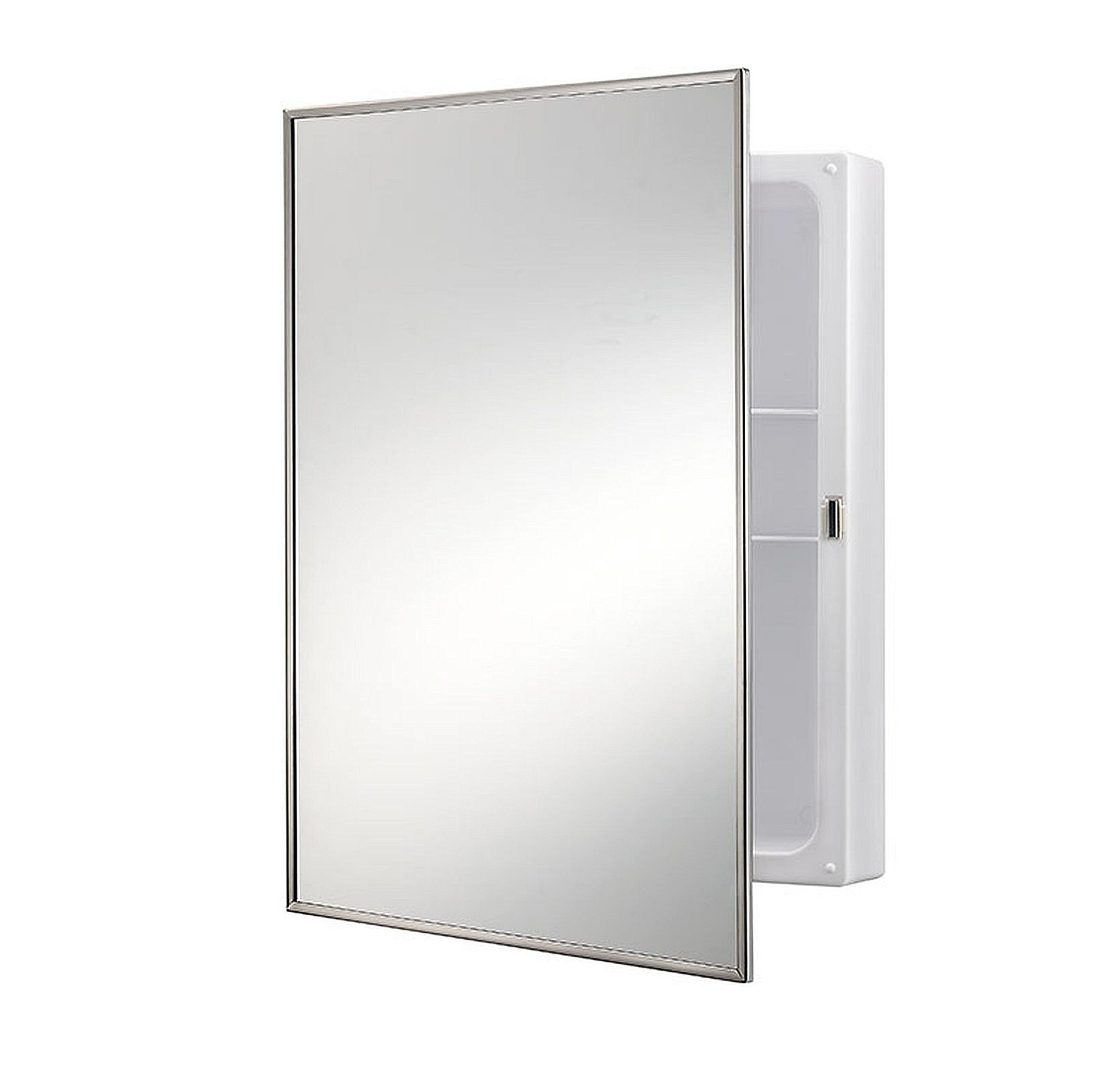 Jensen 614X Stainless Frame Medicine Cabinet, 16.25'' x 22.25''