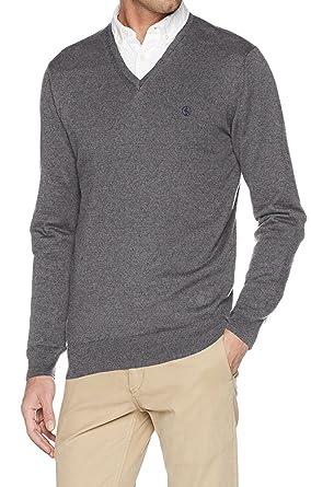 El Ganso - M Jersey Cuello Pico Detalle Hombre Color: Gris Talla: SICE L: Amazon.es: Ropa y accesorios
