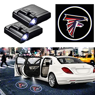 For Atlanta Falcons Car Door Logo Projector Light Ghost Shadow LED Courtesy Car Door Lights Fit for All Brands of Cars (2PCS): Automotive