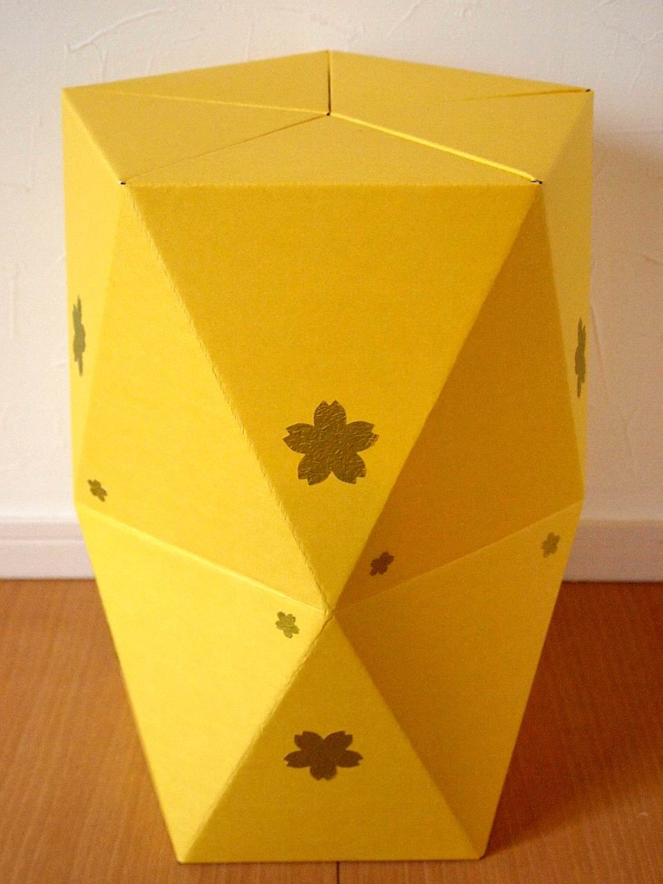 CARBOARD STOOL ~This is made with your hand.~ (Yellow)
