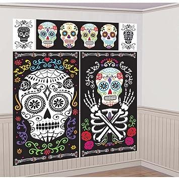Amakando Tatuaje Pared Día de los Muertos 5 láminas de Pared ...
