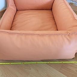 Cama para perros Perros sof/á Dormir Espacio piel sint/ética Acceso 80 cm x 60 cm Lavanda