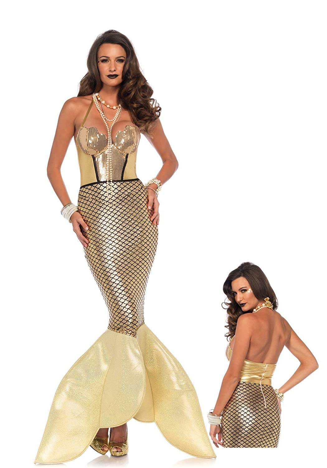 Women's Golden Glimmer Mermaid Costume Gown - DeluxeAdultCostumes.com