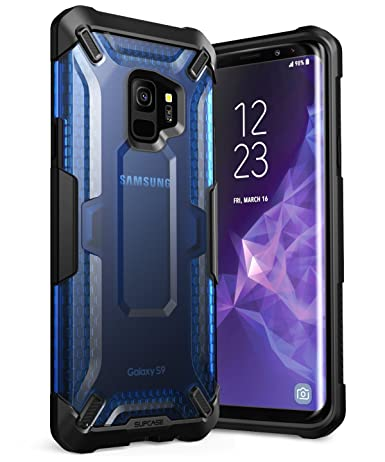 Galaxy S9 Case, SUPCASE Unicorn Beetle Series Premium Hybrid Protective Clear Case for Samsung Galaxy S9 2018 Release, Retail Package (Frost/Blue)