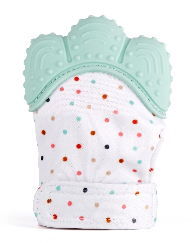 Cindeyar Baby Zahnen Handschuh,Food Grade Silikon F/äustlinge f/ür Baby 3-18Monate,Chewable Safe Baby Teething Mitten