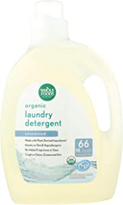 Whole Foods Market, Organic Laundry Detergent (66 HE Loads), Unscented, 100 Fl Oz