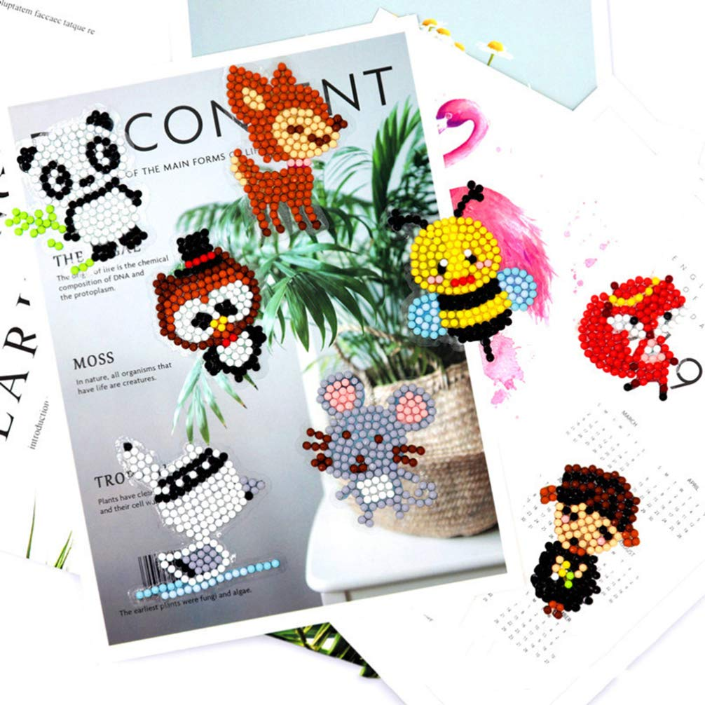 HEALLILY 5D Diamond Painting Stickers DIY Animal Diamond Stickers for Kids and Adult Beginners 2sets