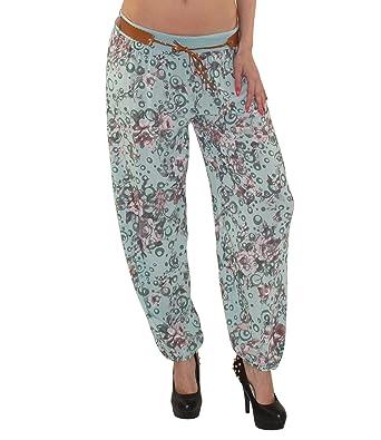 bequeme Damen Sommer Haremshose Pluderhose Pumphose Yogahose sehr beliebt  als Strand-, Freizeit- oder f8717418eb