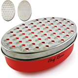 Latest Cheese Grater - Best Rated Box Grater With Food Storage Container - Perfect For Hard & Soft Cheese, Ginger, Vegetables, Onions Or Nutmeg