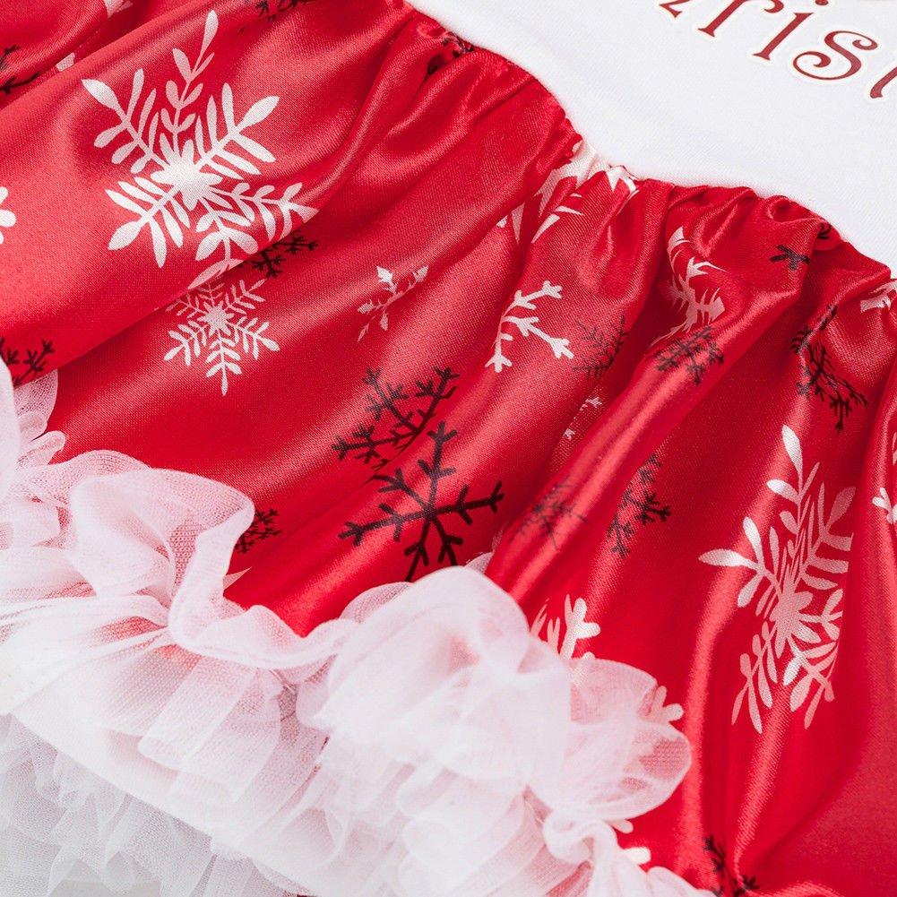 Hzjundasi Kids Baby Girls Party Princesse Bal Robe de soirée de Noël Jupe Costume  Outfit  Amazon.fr  Vêtements et accessoires 0f0e668b72e