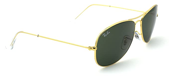 43484351d69 Amazon.com  Ray-Ban RB3362 001 Cockpit Gold Frame   Crystal Green G ...