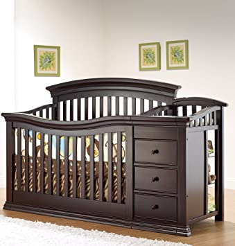 Amazon.com : Sorelle Verona 4-in-1 Convertible Crib and Changer ...