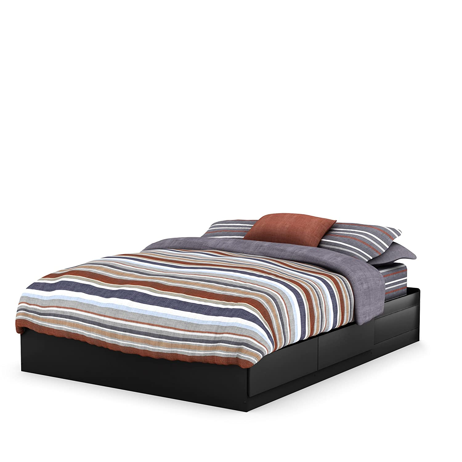 amazoncom south shore vito collection queen inch mates bed  - amazoncom south shore vito collection queen inch mates bed blackkitchen  dining