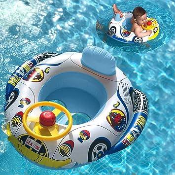 UCLEVER Flotador para bebé 6-36 Meses Flotador Anillo de Natación Bebé Swim Ring Inflable Piscina Flotador Bebé