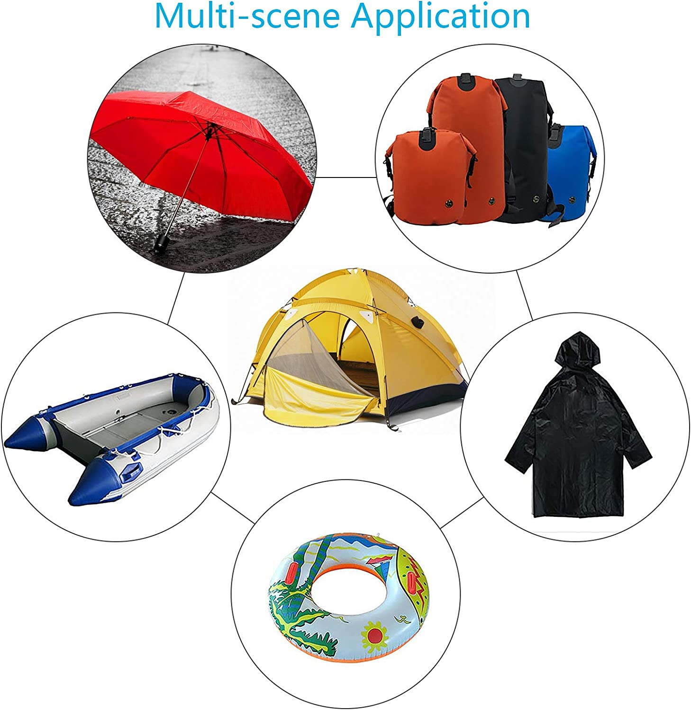 CHIFOOM 20pcs Tent Repair Tapes,Transparent Tenacious Waterproof TPU Flex Patches Repair Sticker for Awnings Camping Tents Jacket Canvas Rainwear Outdoor Gear